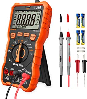 Lomvum Digital Multimeter, 6000 Counts Electrical Tester AC/DC Voltage Current Detector, NCV, Resistance, Capacitance, Diode Electronic, Duty Cycle Tester, (Auto Ranging Digital Multimeter)
