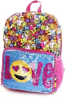 Emoji Festival Flip Sequin Pocket Backpack 14