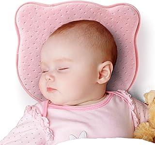 2 Luxurious Bamboo Pillowcases /& Bonus Bibs Included by Capitan Green Sleeping Memory Foam Cushion for Newborn /— Head Shaping /& Correcting Flat Spot Syndrome Infant Baby Flat Head Pillow