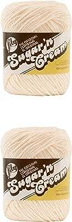 LILY Sugar 'n Cream-Pack of 2-70.9g Each Ball-Soft Ecru