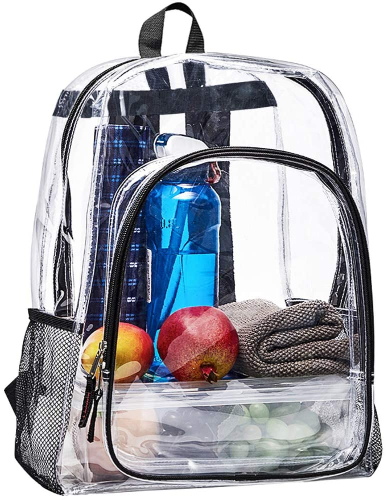 Heavy Duty Great interest Clear Backpack Transparent Large Max 54% OFF Bookbag See