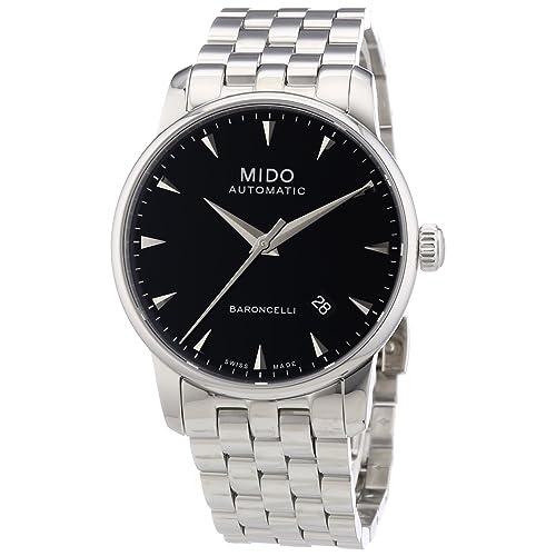 Mido Mens MIDO-M86004181 Baroncelli Analog Display Swiss Automatic Silver Watch