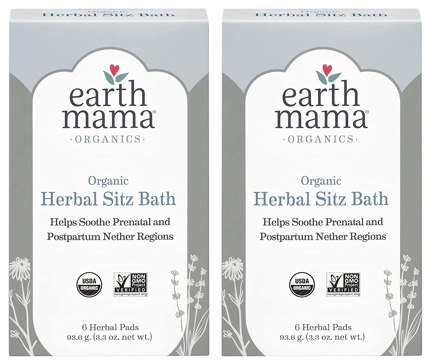 Organic Herbal Sitz Bath by Earth Mama   Soothing Soak for Pregnancy and Postpartum Care, 6-Count (2-Pack)