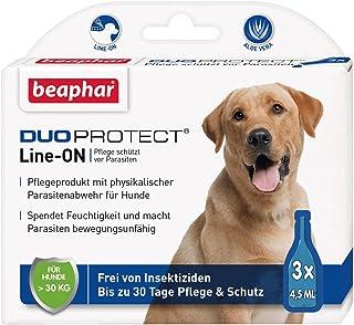 DuoProtect Hund > 30 kg | Pflege & Schutz für Hunde | Physikalische Parasitenabwehr | Mit Dimeticon & Aleo Vera | Wirkt bis zu 30 Tage | 3 x 4,5 ml
