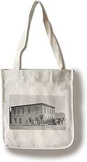 Lantern Press Tripp County, South Dakota - New Lamro Hotel (1st Hotel) View (100% Cotton Tote Bag - Reusable)