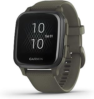 ساعة ذكية Garmin Venu Sq وGPS مع شاشة لمس ساطعة، تتميز بالموسيقى وحتى 6 أيام من عمر البطارية، لون أخضر داكن (010-02426-03)