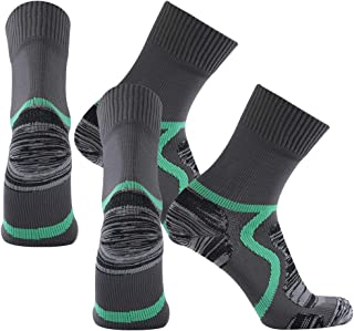 SuMade 100% Waterproof Breathable Socks, Unisex Outdoor Cushioned Wicking Hiking Cycling Skiing Crew Socks