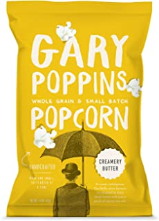 Gary Poppins Popcorn - Gourmet Flavored Popped Popcorn - Creamery Butter (4 bags x 4.4oz)