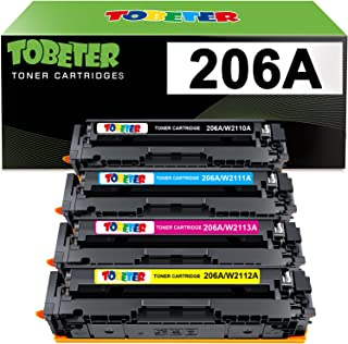 ToBeter Compatible Toner Cartridge Replacement for HP 206A 206X W2110A W2110X for HP Color Laserjet Pro MFP M283fdw M255dw...