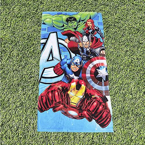 Toalla de Playa Avengers, 100% Algodón, 70X140 cm, Producto Oficial Marvel