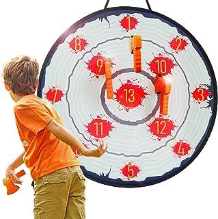 AUBESTKER Throwing Games Foam Axe Toss Score Game, Safe Dartboard for Kids, Target Games for Adults Family Indoor Outdoor ...