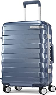Samsonite Framelock Hardside Carry On Luggage with Spinner Wheels, 20 Inch, Ice Blue