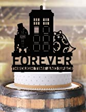 Forever Through Time and Space Star Wars Dr Who R2D2 BB8 Wedding Cake Topper