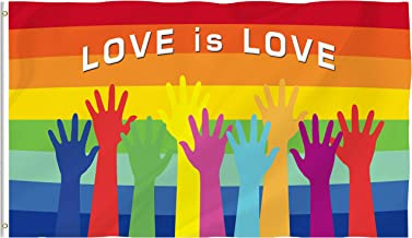 Bonsai Tree Gay Pride Flag 3x5 Ft Double Sided and Double Stitched Love is Love Flags with Brass Grommets Rainbow Garden House Outdoor Banners