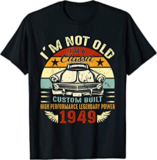Vintage 70th Birthday Gifts 70 Years Old Classic 1949 TShirt
