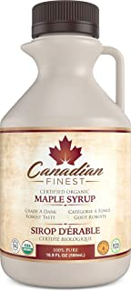 CANADIAN FINEST Maple Syrup Maple Syrup on Amazon - 100% Pure Certified Organic Maple Syrup from Family Farms in Quebec, C...