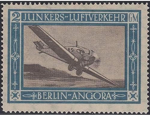 Goldhahn Deutsches Reich Flugpostmarke Junkers postfrisch  Briefmarken für Sammler