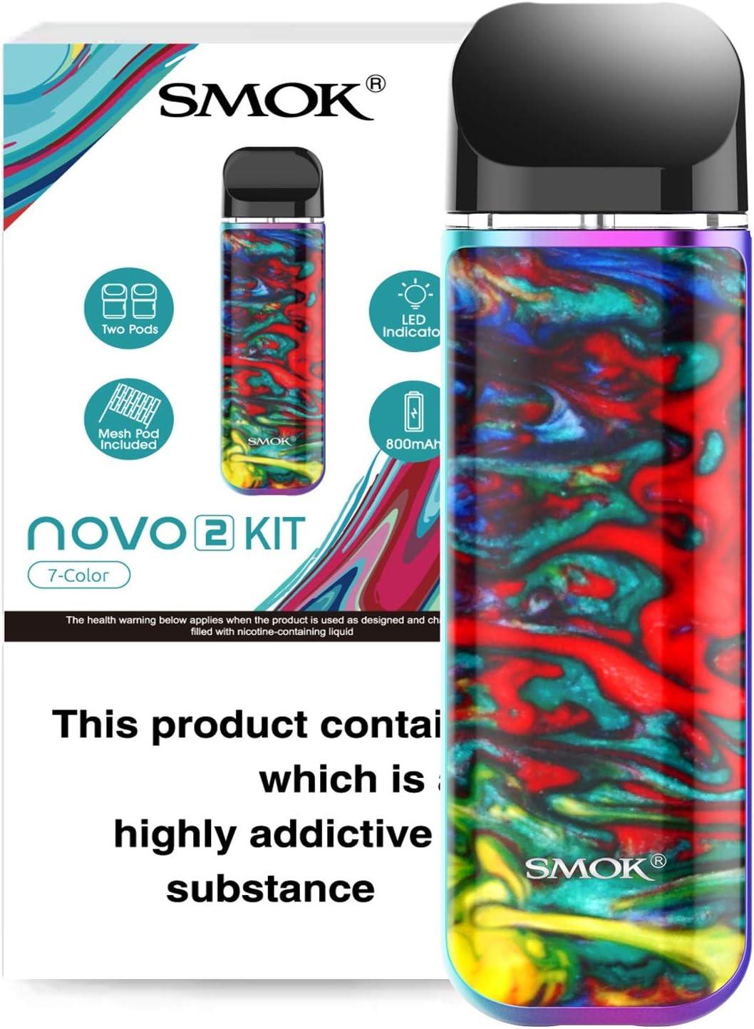 SMOK NOVO 2 Kit Vape POD sistemas 2ml (Raya de resina de 7 colores)