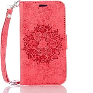 c8124586d2a DENDICO Funda Galaxy S5, Carcasa Libro de Cuero para Samsung Galaxy S5,  Billetera Cover