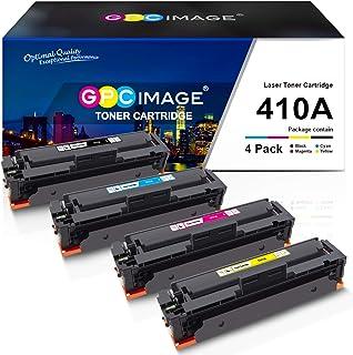 GPC Image Compatible Toner Cartridge replacement for HP 410A CF410A CF411A CF412A CF413A to use with Color LaserJet Pro MFP M477fdw M477fdn M477fnw Pro M452dn M452nw M452dw Printer Toner (4 Pack)