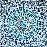 MOMOMUS Tapiz Mandala Bohemio - 100% Algodón, Grande, Multiuso - Plaid/Foulard/Tela/Colcha Ideal...