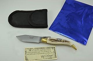 Couteau Celaya Classic Albacete Laiton Pastora Cerf 7 cm