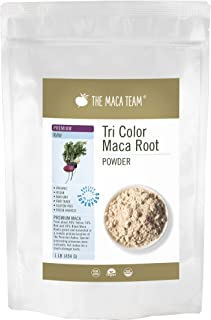 The Maca Team – Premium Maca Powder, High-Potency – 100% Certified Organic & Fair Trade – GMO-Free – 1 Pound, 50 Servings