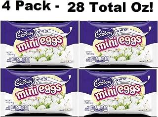 Cadbury White Mini Eggs 7 Oz Bags (4 Bags - Total of 28 Oz)