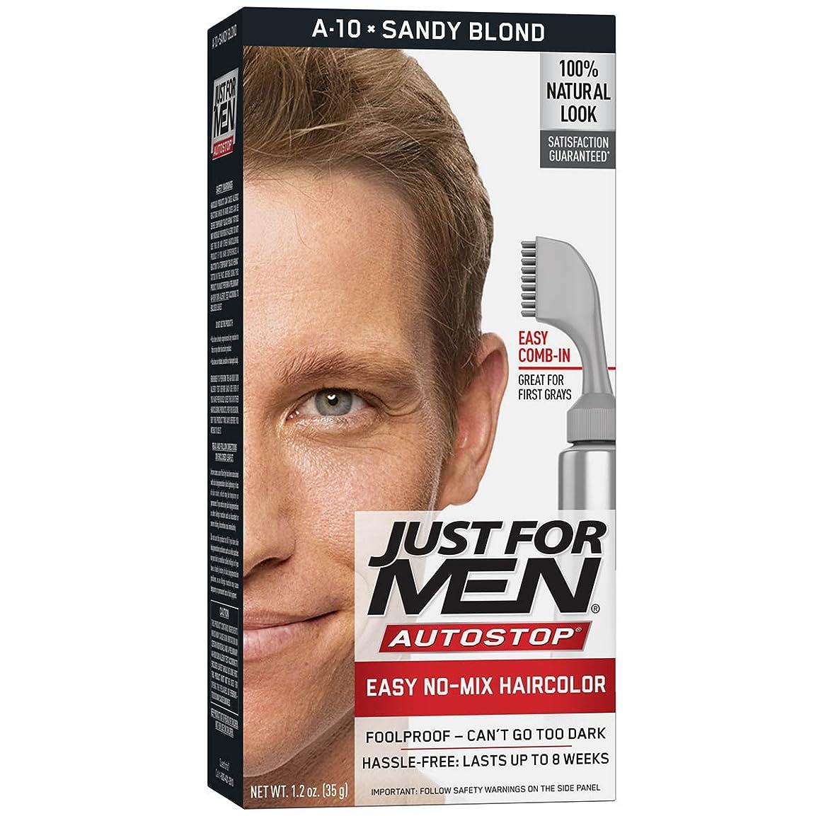 エトナ山接続詞ムスJust for Men AUTOSTOPメンズくしで髪の色、サンディブロンド