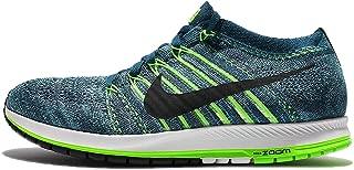 Womens Flyknit Streak Low Top Lace Up Running Sneaker, Blue, Size 11.0