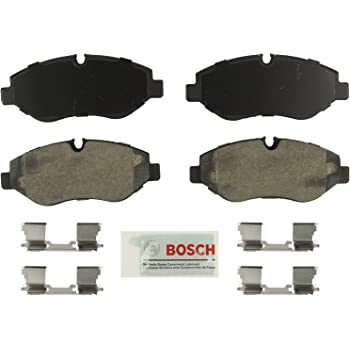 Bosch BE1316H Blue Disc Brake Pad Set with Hardware for Select Dodge, Freightliner, Mercedes-Benz Sprinter 2500 and Volkswagen Crafter Vans - FRONT