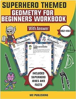 Superhero Themed - (KS2- KS3) Geometry for Beginners Workbook with Answers: Area, Perimeter, Volume, & Surface Area Workbo...