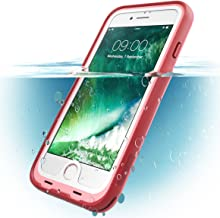 i-Blason Case for iPhone 7 Plus 2016 / iPhone 8 Plus 2017 Release, [Aegis] Waterproof Full-Body Rugged Case with Built-in Screen Protector (Pink)