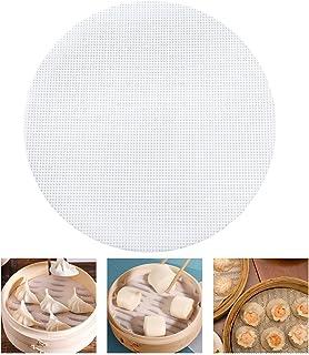 Gwhole 10 Pcs Papiers à Vapeur Papier Antiadhésif en Silicone Papier Cuisson Rondes Perforées 20cm de Diamètre pour Faire ...