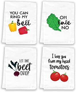 Miracu Funny Kitchen Towels and Dishcloths Sets of 4 - Housewarming Gift, House Warming Presents for New Home - Cute Dish ...