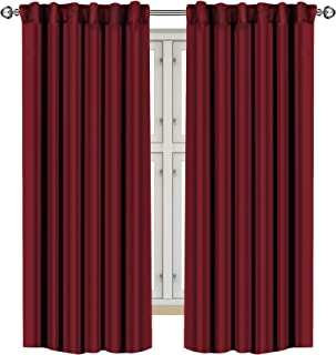 Best Utopia Bedding 2 Panels Blackout Curtains, W52 x L63 Inches, Burgundy, Thermal Insulated Window Draperies - 7 Back Loops per Panel - 2 Tie Backs Included Review