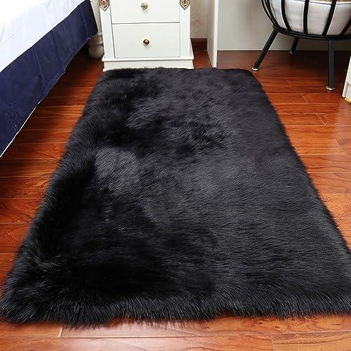Black And White Bedroom Throw Rugs Amazon Com