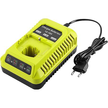 Ryobi 5133004422 RC18150-250 Kit chargeur 18 V 2 piles 5 Ah Temps de charge 60 min Indicateur de charge 3 x plus dautonomie