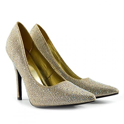 a3cad9a8530 Gold High Heel Shoes: Amazon.co.uk