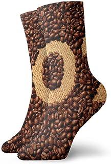 SundriesShop Paquete de calcetines de vestir para hombre, granos de café, calcetines..