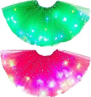 Gonna da bambina con tutù e gonna luminosa a rete, da principessa Fancy Fluffy Dancewear, stella con paillettes, balletto ...