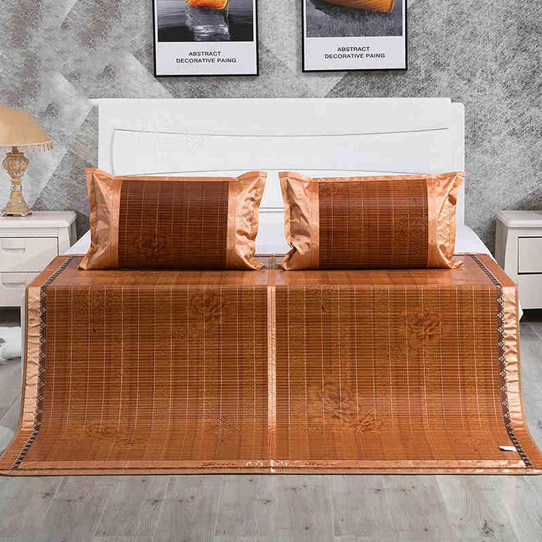 Carbonized Bamboo Summer Sleeping Mat Cooling Mattress Topper Pad (Oriental, Queen) (Size   0.8  1.9m)