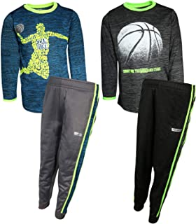 Hind Boys (4-Piece) Performance T-Shirt and Active Pant Sets (2 Full Sets)
