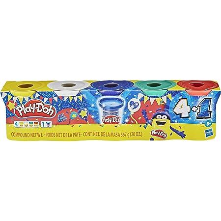 Play-Doh Celebración Zafiro - Set de 5 latas de Masa para moldear Incluyendo Azul Zafiro Sparkle, más los Colores Verde, Rojo, Blanco y Amarillo - No tóxico - Edad: 3+