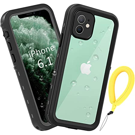 BDIG Coque Etanche iPhone 11,Transparent Full-Body Rugged Coque Etui Imperméable, Antichoc avec Un écran Protecteur Portant Couverture Coque pour ...