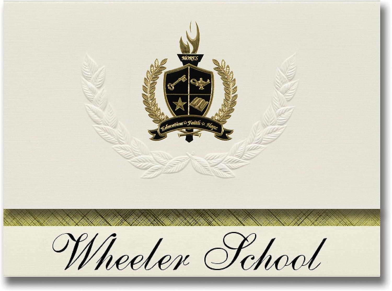 Signature Ankündigungen Ankündigungen Ankündigungen Wheeler Schule (Wheeler, TX) Graduation Ankündigungen, Presidential Stil, Elite Paket 25 Stück mit Gold & Schwarz Metallic Folie Dichtung B078WFX9QC    | Attraktive Mode  b14f70