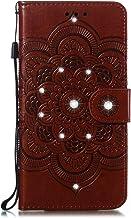 Kesv Adecuado para LG L3 Caja del teléfono para Carcasa Libro de Cuero Ultra Delgado Billetera Cartera Ranuras de Tarjeta Soporte Plegable Cierre Magnético Case Flip Cover