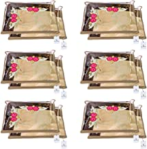 Kuber Industries Non Woven Single Packing Saree Cover 12 pcs Set (Beige),CTKNEW102