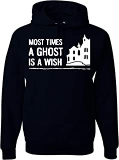 Haunting Most Times A Ghost is A Wish Unisex Hooded Sweatshirt - New Black
