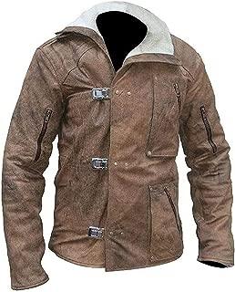 KAAZEE William B.J. Blazkowicz Wolfenstein Fur High Qaulity Brown Leather Jacket